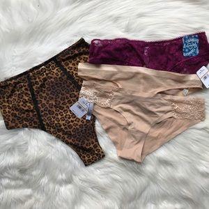 4 Piece Free People Panty Bundle Size Small